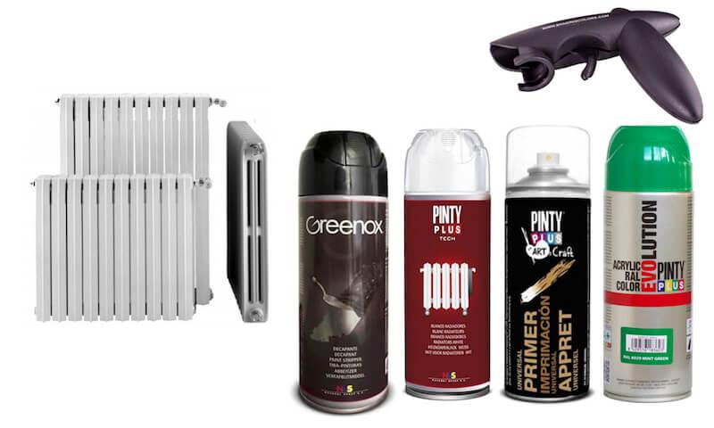 materiales para renovar los radiadores de hierro
