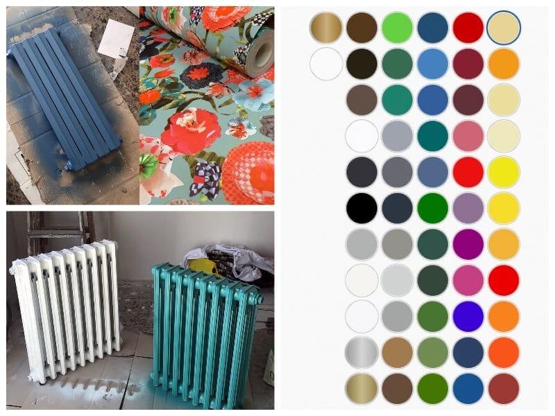 darle color a los radiadores con pintura en spray